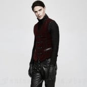 men's Poison Ivy Vest by PUNK RAVE brand, code: Y-813/RD