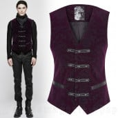 men's Poison Ivy Vest by PUNK RAVE brand, code: Y-813/VI
