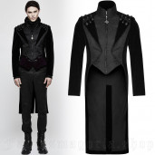 men's The Dynasty Of Darkness Tailcoat by PUNK RAVE brand, code: Y-814