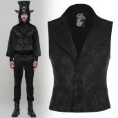 men's Westeros Vest by PUNK RAVE brand, code: WY-851/BK