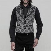 men's Westeros Vest by PUNK RAVE brand, code: WY-851/BK-WH