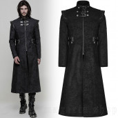 men's The Smog Coat by PUNK RAVE brand, code: WY-854/BK