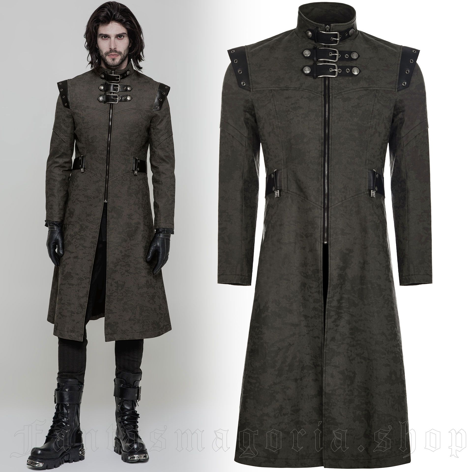 men's The Smog Coat by PUNK RAVE brand, code: WY-854/GR