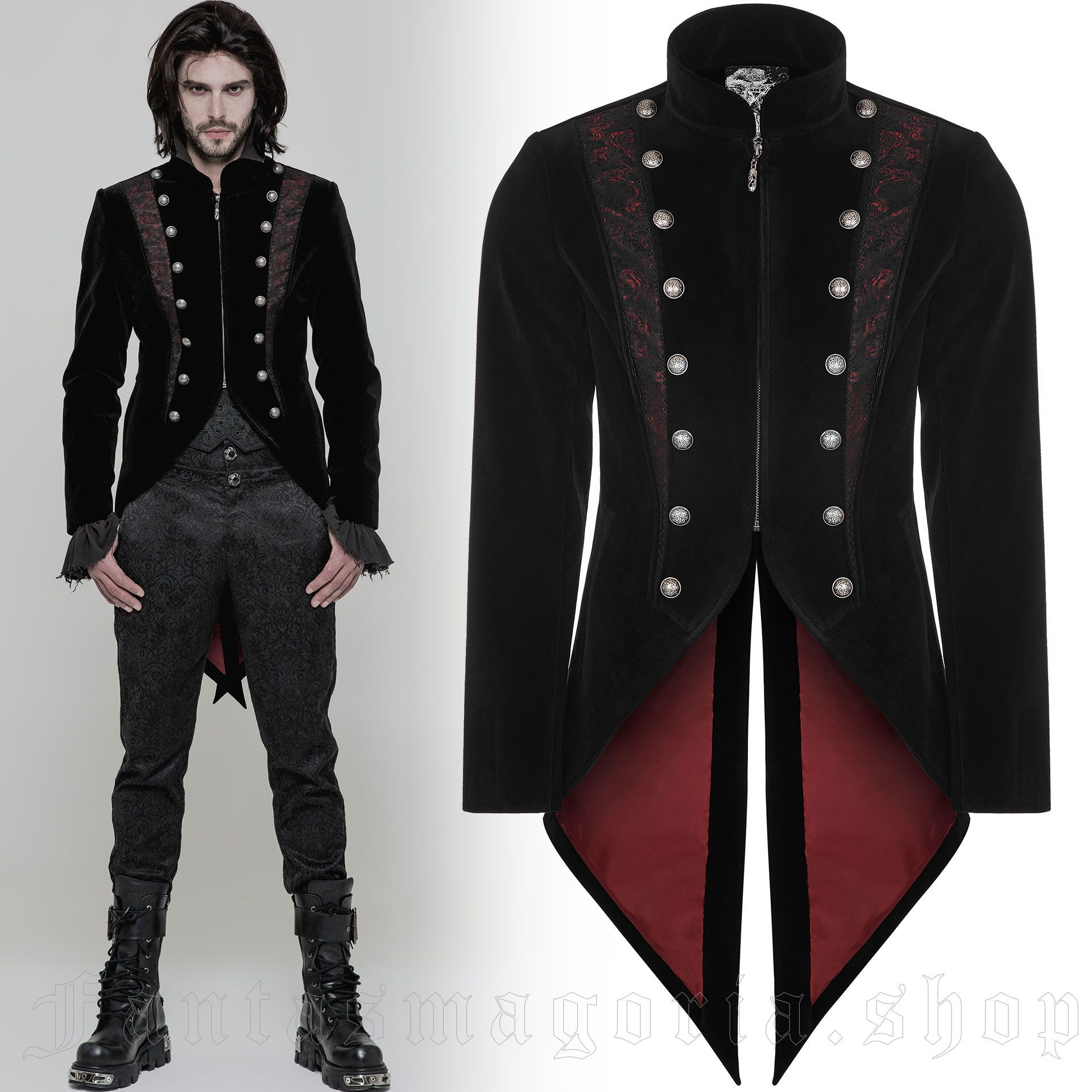 men's Lasombra Tailcoat by PUNK RAVE brand, code: WY-857