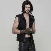 men's Dementor Vest by PUNK RAVE brand, code: OY-858