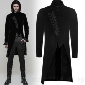 men's Satyr Frock Coat by PUNK RAVE brand, code: OY-867