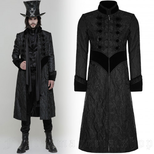 men's Nocturn Coat by PUNK RAVE brand, code: WY-874