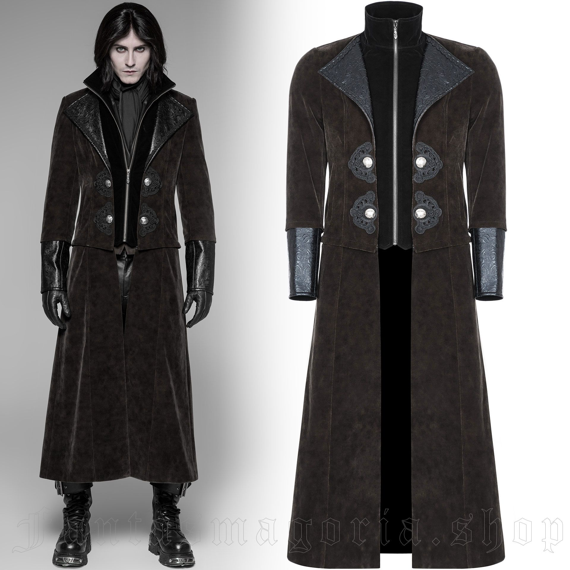 men's Ghostwood Jacket-Coat by PUNK RAVE brand, code: WY-908/CO