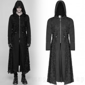men's Black Swamp Coat by PUNK RAVE brand, code: WY-911