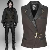 men's Coroner Vest by PUNK RAVE brand, code: WY-929/CO