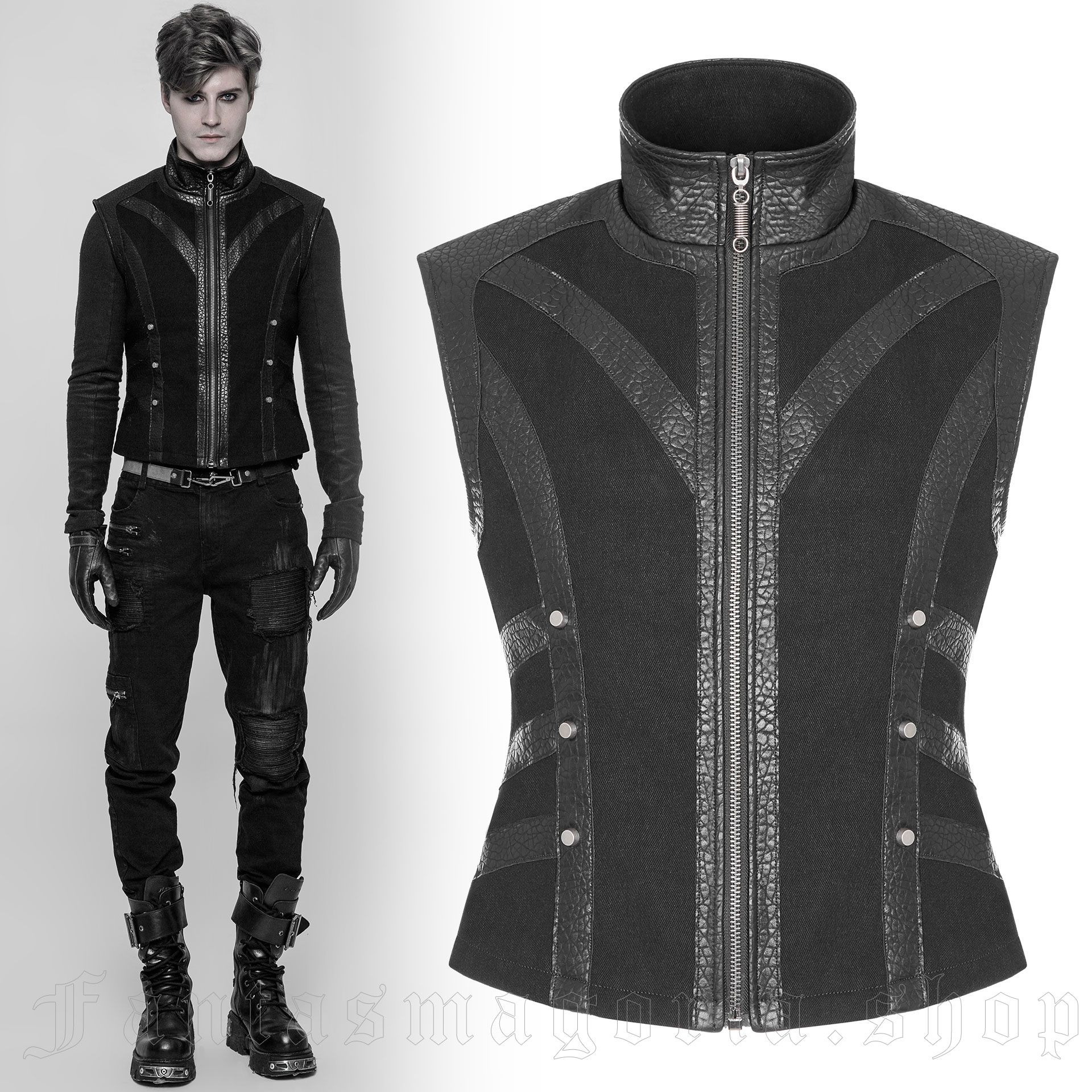 men's Panzer Vest by PUNK RAVE brand, code: WY-930