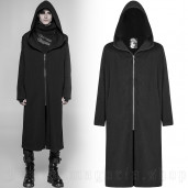 men's Black Plague Knitted Coat by PUNK RAVE brand, code: WY-932