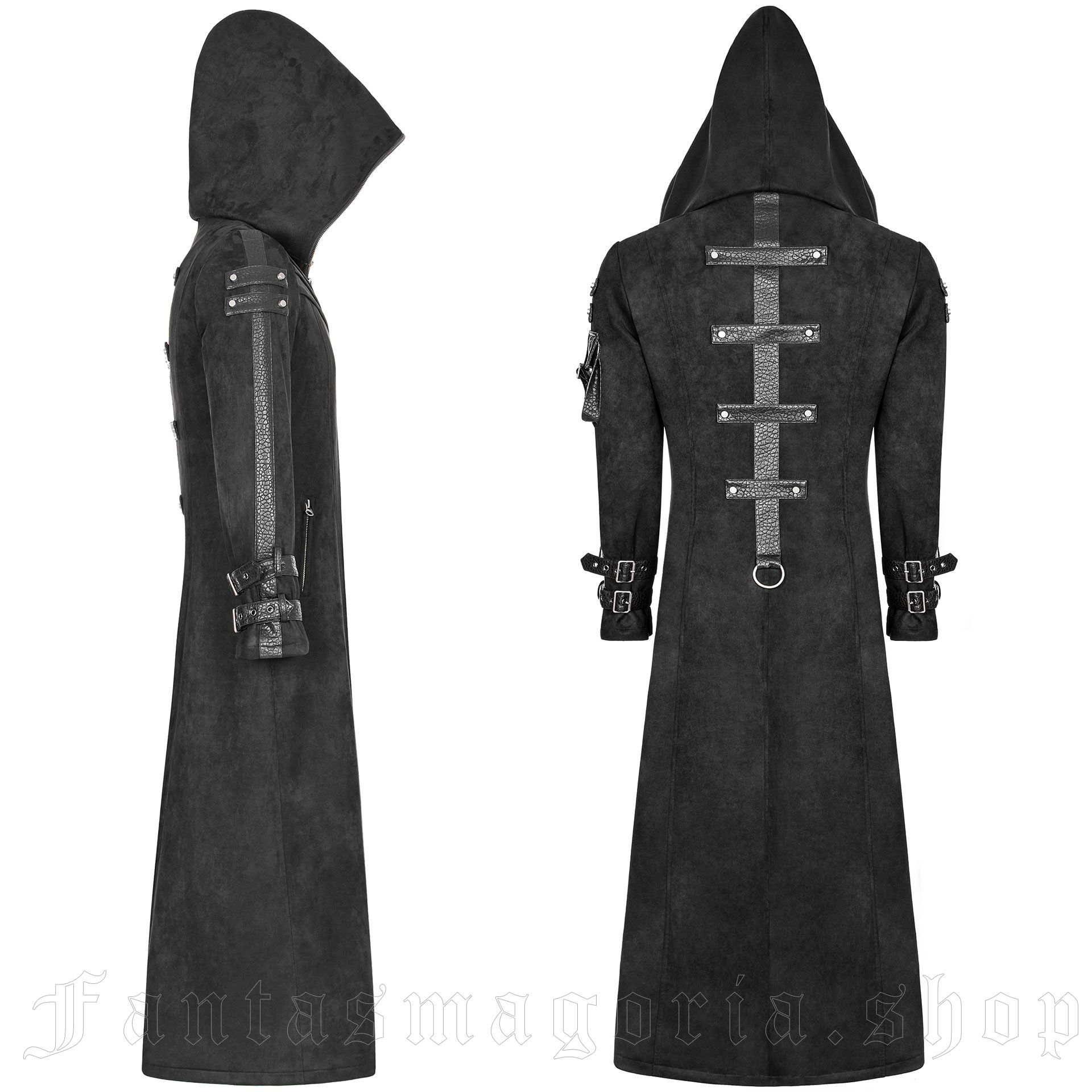 men's Gangrel Coat by PUNK RAVE brand, code: WY-933