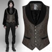 men's Autumnal Sadness Waistcoat by PUNK RAVE brand, code: WY-938/BK-BN