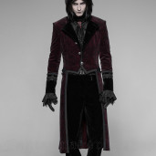 men's Romeo Rose Frock Coat by PUNK RAVE brand, code: WY-942