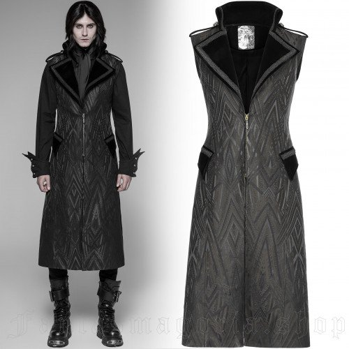 men's Mirage Long Vest by PUNK RAVE brand, code: WY-944