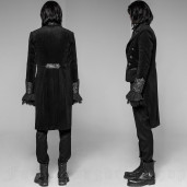 men's Alchemist Tailcoat by PUNK RAVE brand, code: WY-947/BK-SI