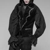men's Alchemist Vest by PUNK RAVE brand, code: WY-948/BK-SI
