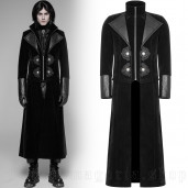 men's Ghostwood Jacket-Coat by PUNK RAVE brand, code: WY-949/BK