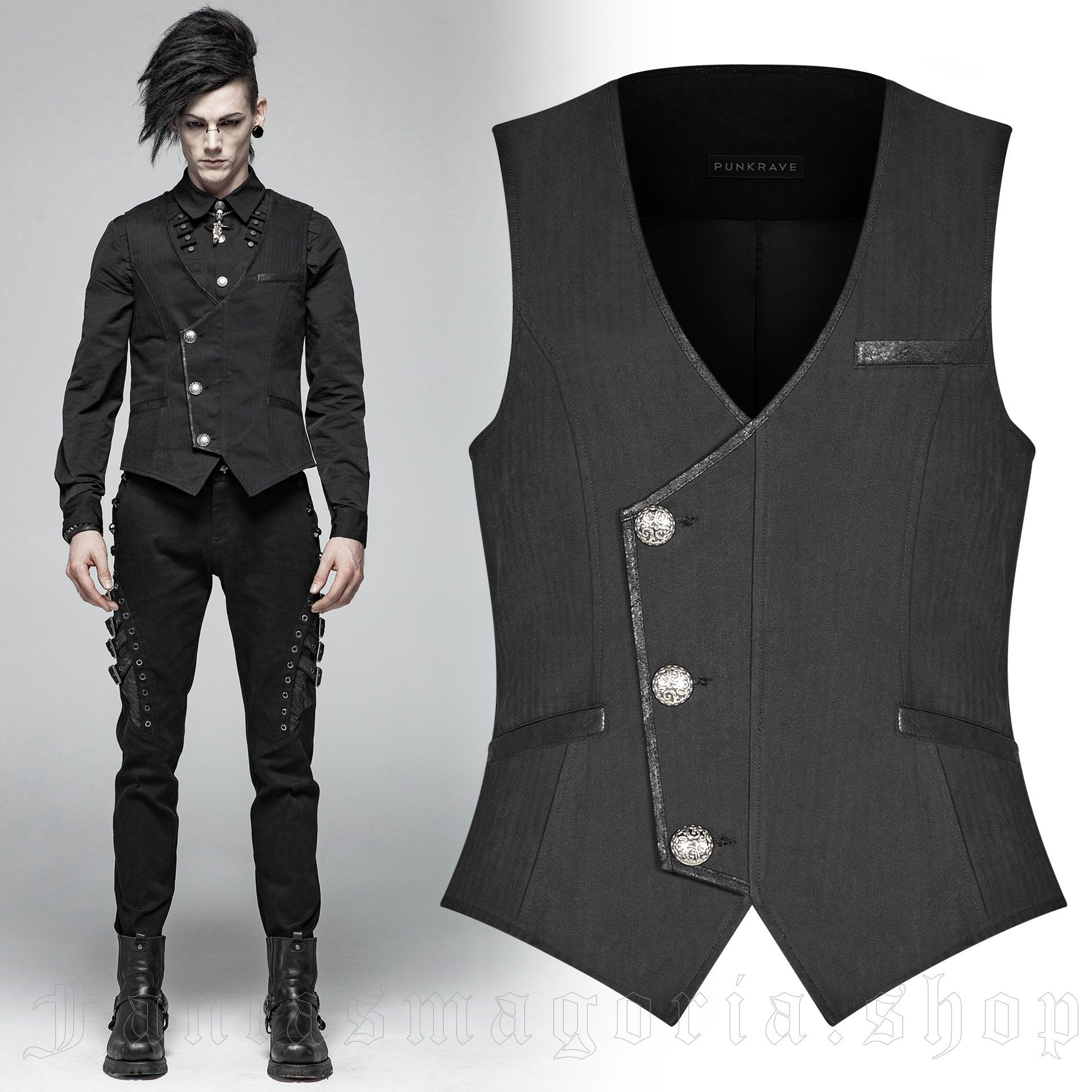 men's Nomeon Vest by PUNK RAVE brand, code: WY-994