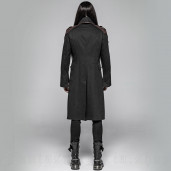 men's Vulkan Coat by PUNK RAVE brand, code: WY-997/BK-CO