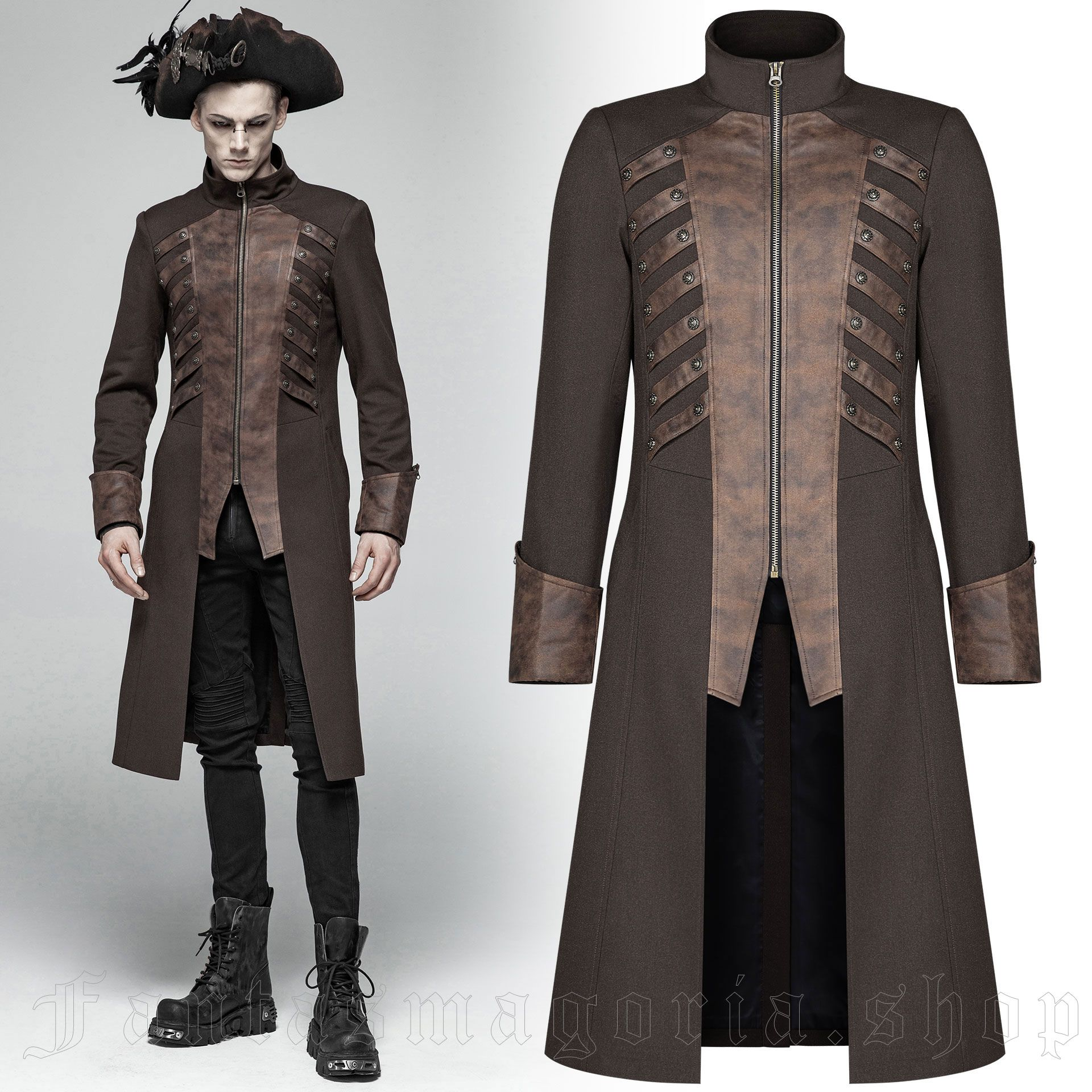 men's Nautilus Coat by PUNK RAVE brand, code: WY-1000/CO