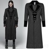 men's Grimm Coat by PUNK RAVE brand, code: WY-1010/BK-RD