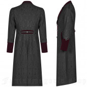 men's Grimm Coat by PUNK RAVE brand, code: WY-1010/BK