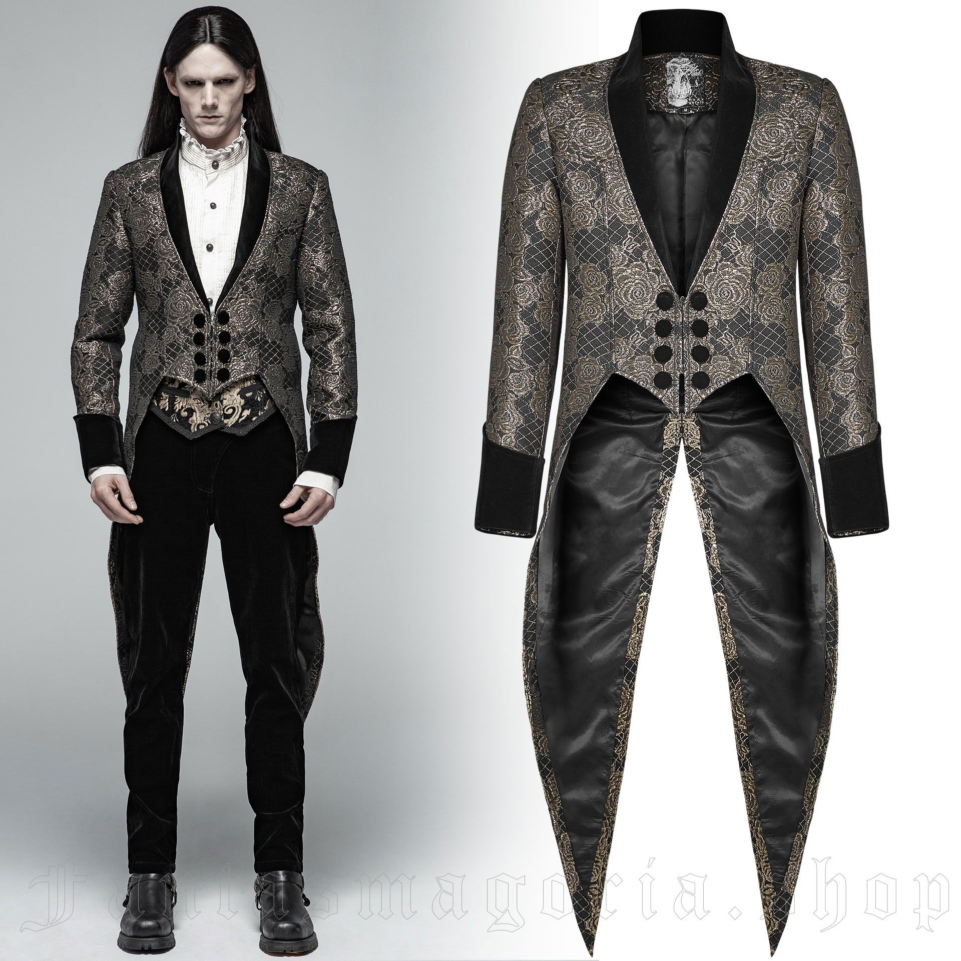 men's Mystic Tailcoat by PUNK RAVE brand, code: WY-1011/GD