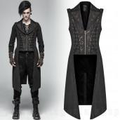 men's Nautilus Waistcoat by PUNK RAVE brand, code: WY-1016/BK
