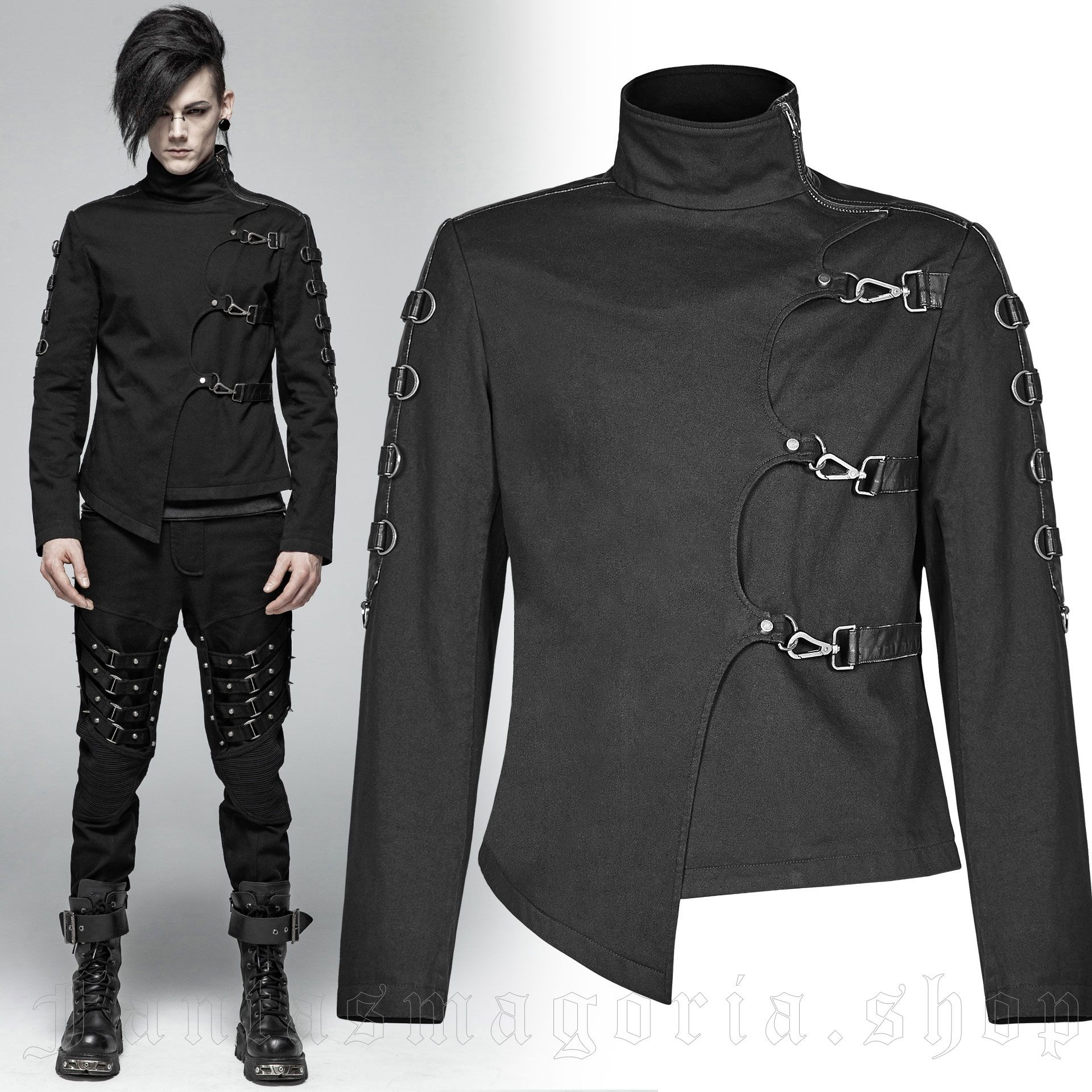 men's Asylum Jacket by PUNK RAVE brand, code: WY-1017