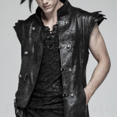 men's Sanctum Long Vest by PUNK RAVE brand, code: WY-1018