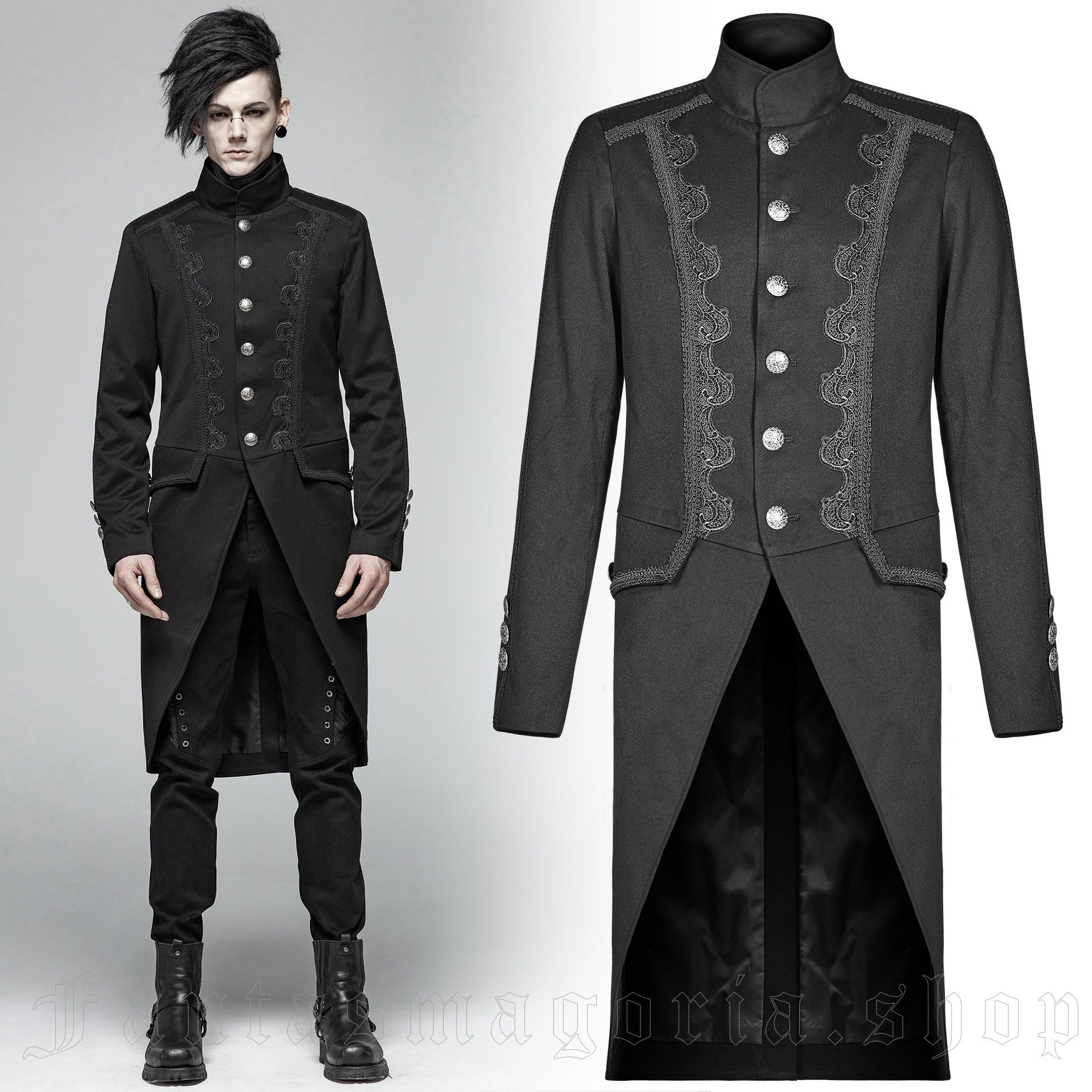 men's Faunus Jacket by PUNK RAVE brand, code: WY-1019
