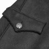 men's Gotham Coat by PUNK RAVE brand, code: WY-1066