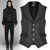 men's Romeo Rose Vest by PUNK RAVE brand, code: WY-1074