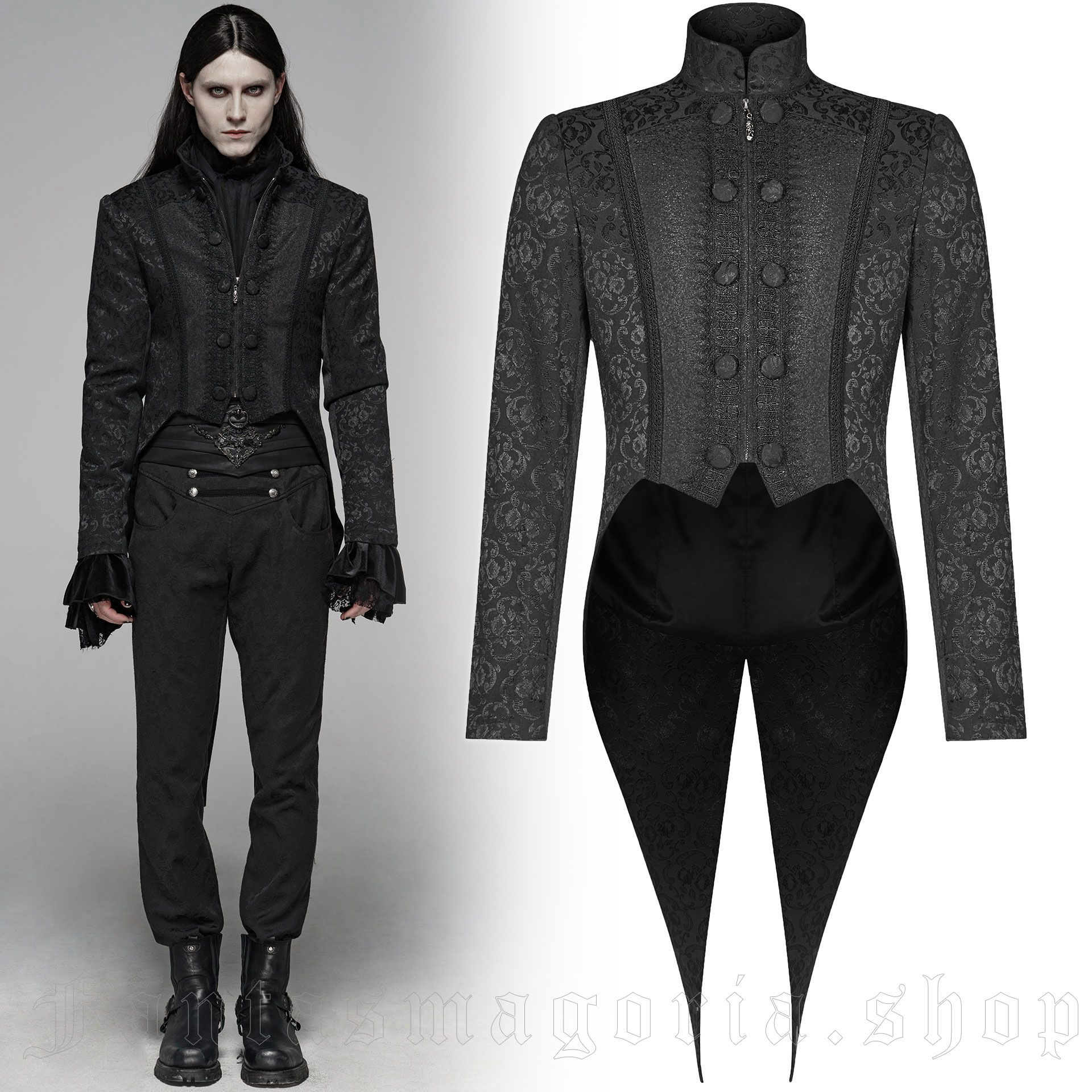 men's Sinamore Jacket by PUNK RAVE brand, code: WY-1075