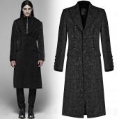 men's Gothic Regent Coat by PUNK RAVE brand, code: WY-1078/BK