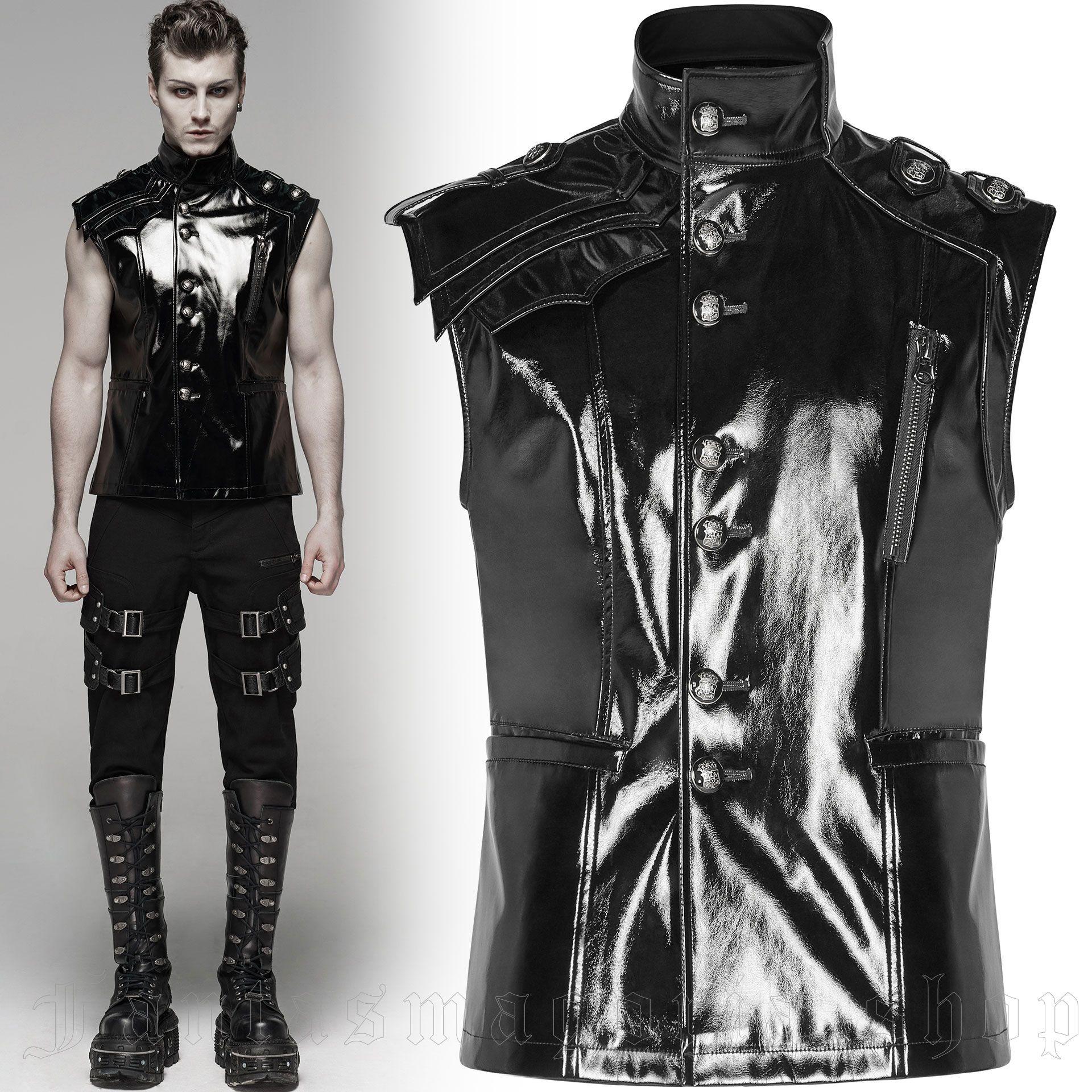 men's Mesmerizer Vest by PUNK RAVE brand, code: WY-1080
