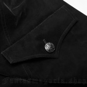 men's Gothic Romeo Coat by PUNK RAVE brand, code: WY-1087/BK