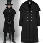 men's Noctivagus Coat by PUNK RAVE brand, code: WY-1090