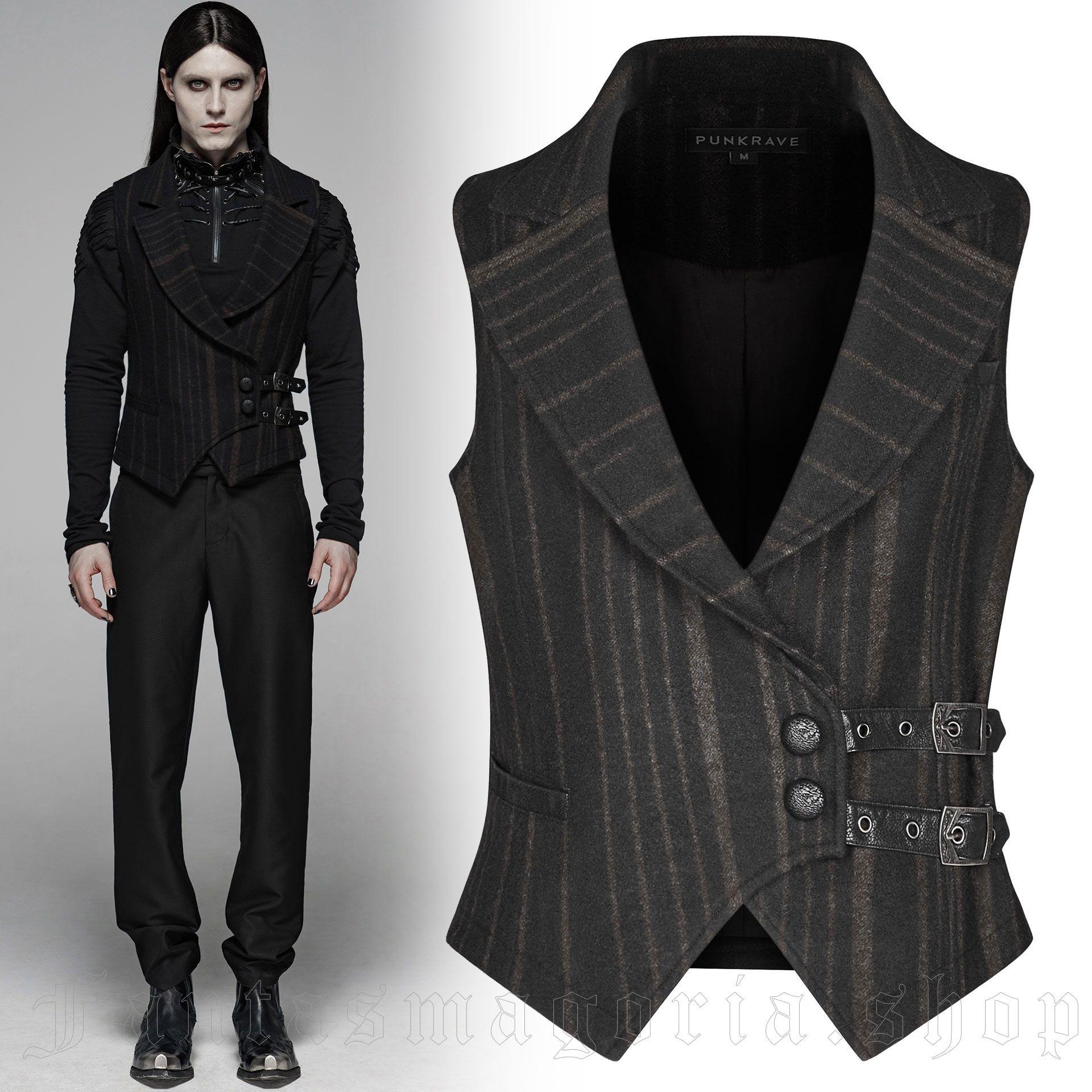 men's Vulkan Vest by PUNK RAVE brand, code: WY-1093/BK-CO