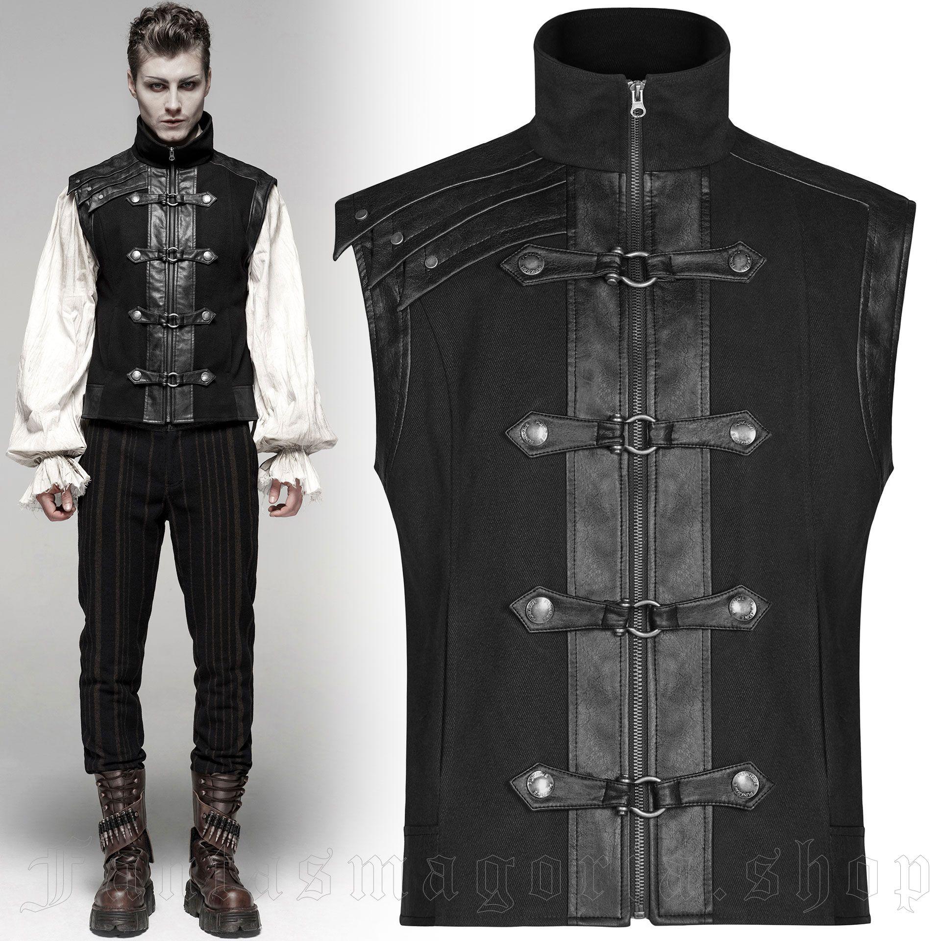 men's Orion Vest by PUNK RAVE brand, code: WY-1094/BK