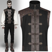 men's Orion Vest by PUNK RAVE brand, code: WY-1094/BK-CO