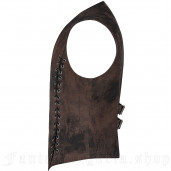 men's Coyote Vest by PUNK RAVE brand, code: WY-1156/CO