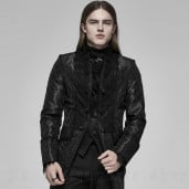 men's Obsidian Jacket by PUNK RAVE brand, code: WY-1188/BK