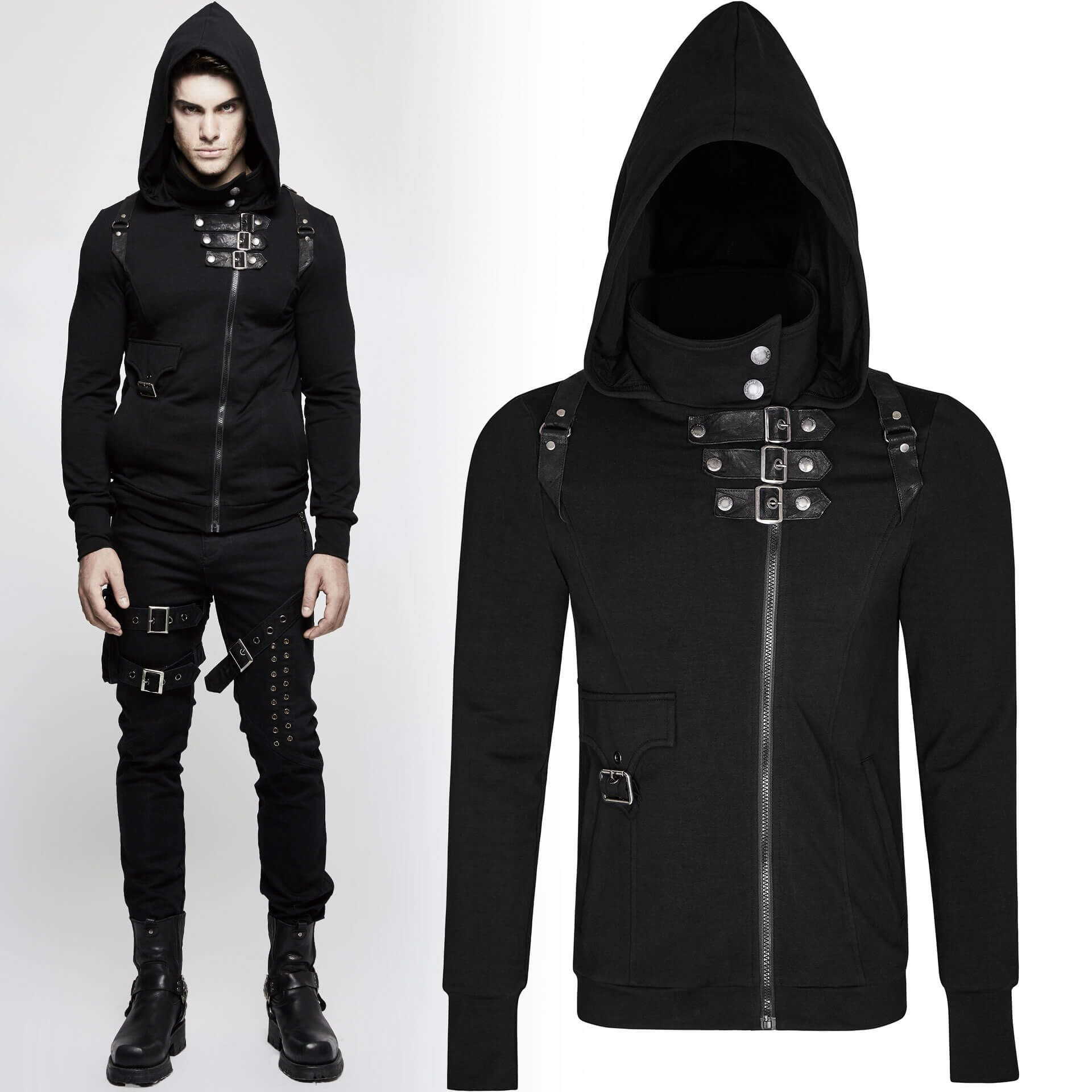 men's Resident Evil Hoodie by PUNK RAVE brand, code: Y-789/Male