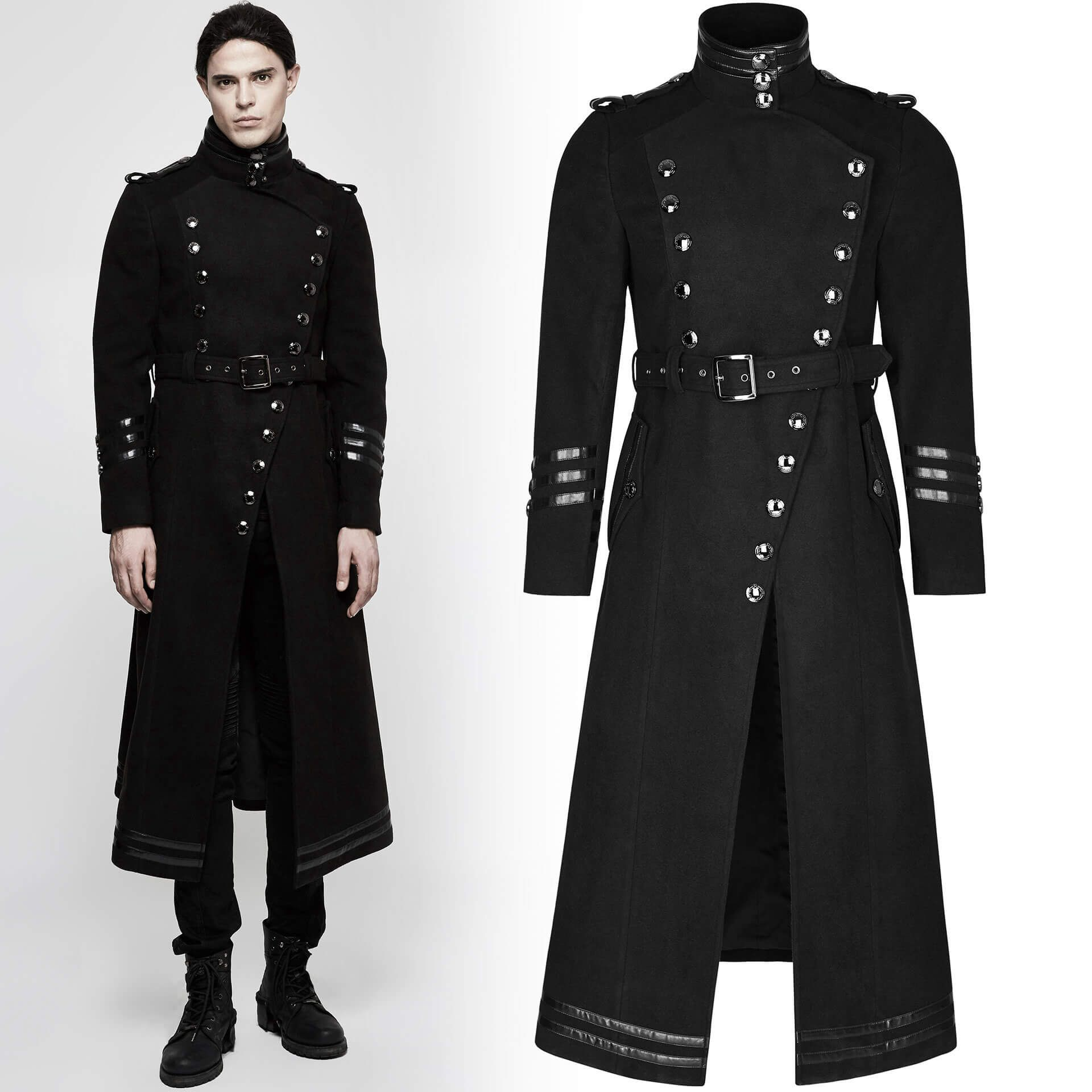 men's Panzer Division Coat by PUNK RAVE brand, code: Y-766/Male