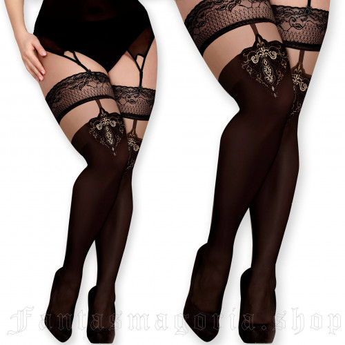 women's Poison Ivy Stockings (Plus Size) by BALLERINA brand, code: BAL370/PLUS
