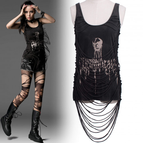 women's Dead Alive Top by PUNK RAVE brand, code: T-304