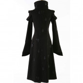 women's Elegant Dkey Coat by PUNK RAVE brand, code: Y-209
